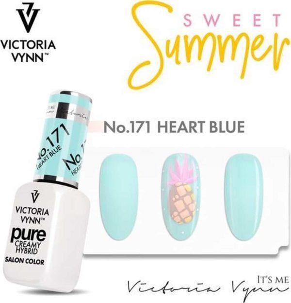 Victoria Vyn Gellak | Gel Nagellak | Pure Sweet Summer Collectie | 171 Heart Blue | 8 ml. | Lichtblauw