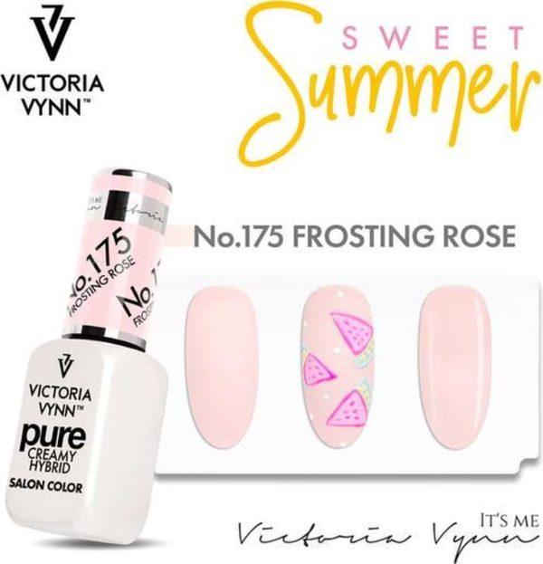 Victoria Vyn Gellak | Gel Nagellak | Pure Sweet Summer Collectie | 175 Frosting Rose | 8 ml. | Roze