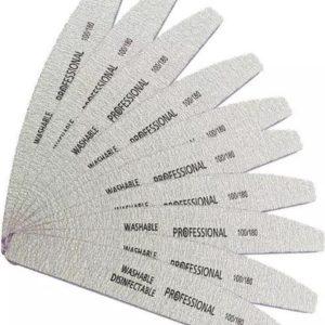 Vijlen - Half Moon - 30 stuks - Half Moon - Professional - Acryl- Gel -Polygel gel nagllak nagels - Vijlen - 100/180- Grit