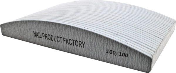 Vijlen grijs halvemaan 100/100 pak 25 stuks Professionele - Nagelvijlen - Gelnagels - Nagelverzorging - Banaan - Acrylnagels - High Quality - Kunstnagels - Manicure