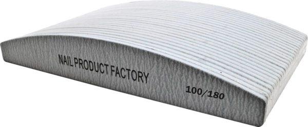 Vijlen grijs halvemaan 100/180 pak 25 stuks Professionele - Nagelvijlen - Gelnagels - Nagelverzorging - Banaan - Acrylnagels - High Quality - Kunstnagels - Manicure