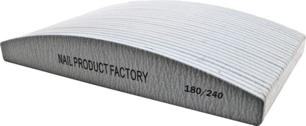 Vijlen grijs halvemaan 180/240 pak 25 stuks Professionele - Nagelvijlen - Gelnagels - Nagelverzorging - Banaan - Acrylnagels - High Quality - Kunstnagels - Manicure