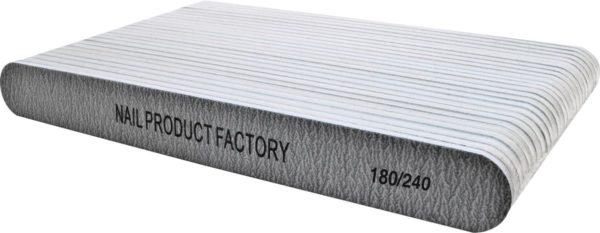 Vijlen grijs recht 180/240 pak 25 stuks Professionele - Nagelvijlen - Gelnagels - Nagelverzorging - Acrylnagels - High Quality - Kunstnagels - Manicure