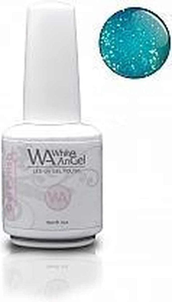White Angel, Bright Turquoise, gellak 15ml, gelpolish, gel nagellak, shellac