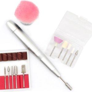 Yaqubi - elektrische nagelvijl set - elektrische nagelvijl - nagelvijl - nagelfrees - nagelvijl set - manicure set - pedicure set - acrylnagels - nagels - nagels set - silver