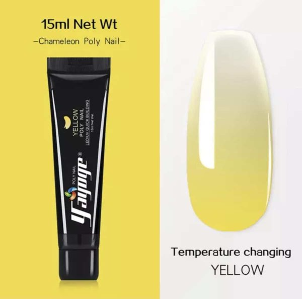 Yayoge Chameleon kleur geel/yellow starterspakket met lamp polygel nagels nail art