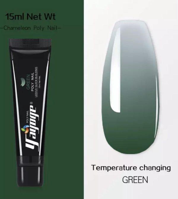 Yayoge Chameleon kleur groen/green starterspakket met lamp polygel nagels nail art