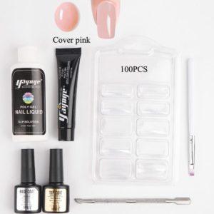 Yayoge Polygel - Kleur Cover pink - Gelnagels Starterspakket - Polygel Starterspakket - Gellak starterspakket - Gel Nagellak - Kunstnagels