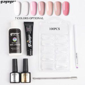 Yayoge Polygel - Kleur Pink- -Gelnagels Starterspakket - Polygel Starterspakket - Gellak starterspakket - Gel Nagellak - Kunstnagels