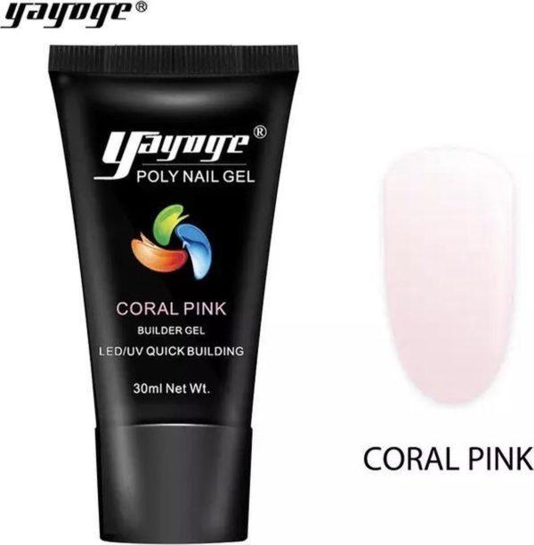 Yayoge polygel coral pink 30 gram