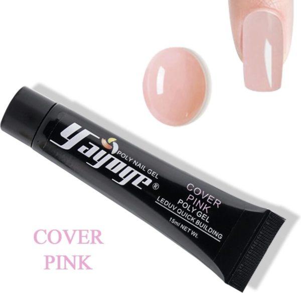 Yayoge polygel cover pink 15 gram
