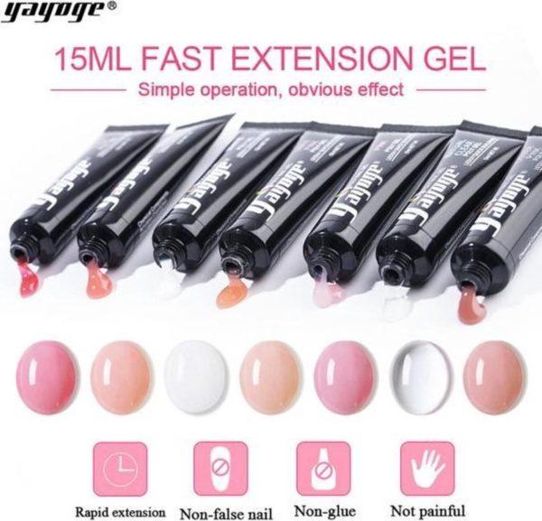 Yayoge polygel pink 15 gram
