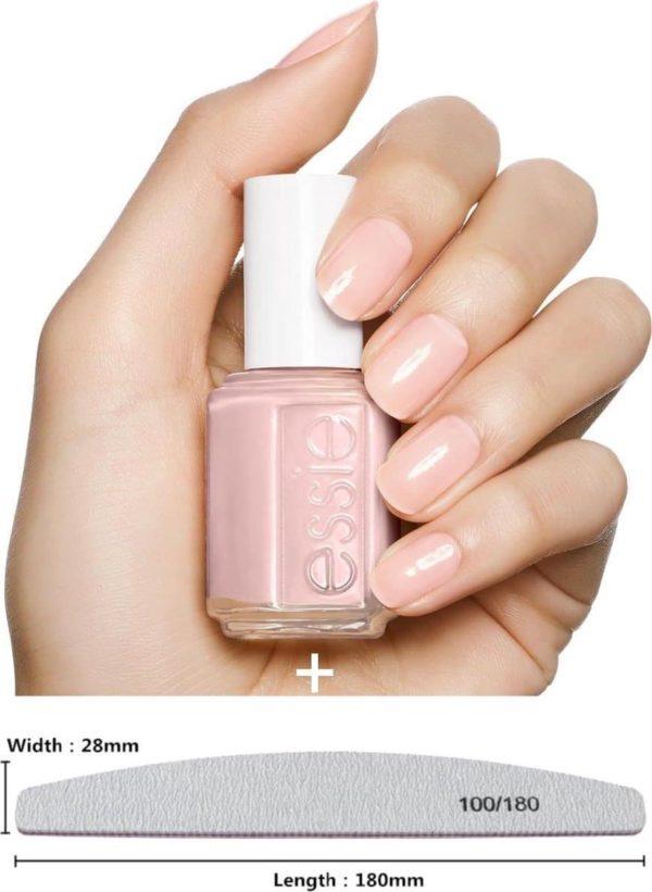 essie mademoiselle 13 - roze -nagellak + nagelvijl