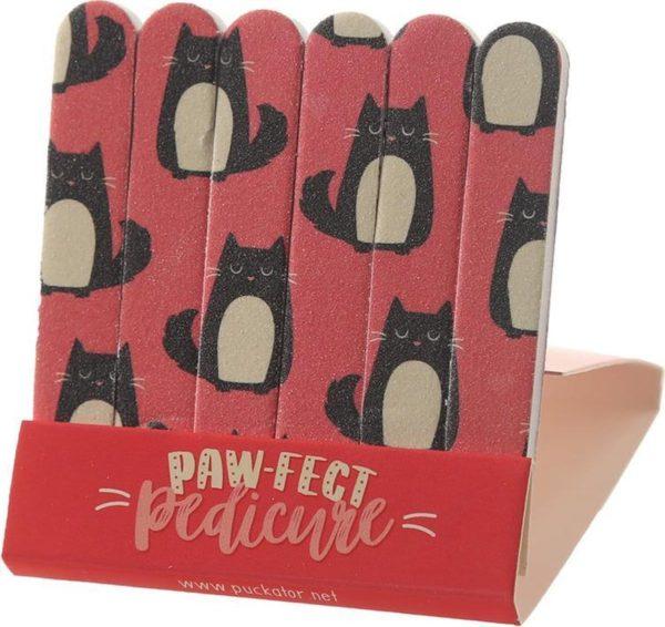 nagelvijl Kat Feline rood 6 stuks
