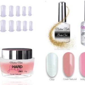 polygel nagels starterspakket / polygel kit de luxe Modena nails / startpakket gel kunstnagels cover natural