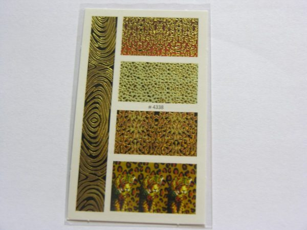 ✔️ 4 vellen Nail Art - Waterdecals - 4 verschillende Dierenprints